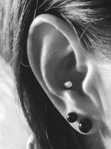 Piercings am Ohr