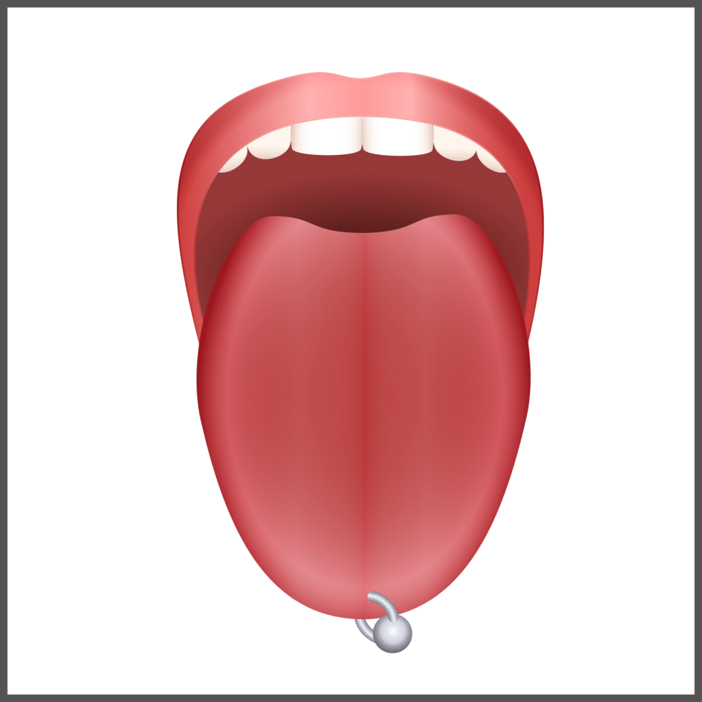 tongue ring poiercing