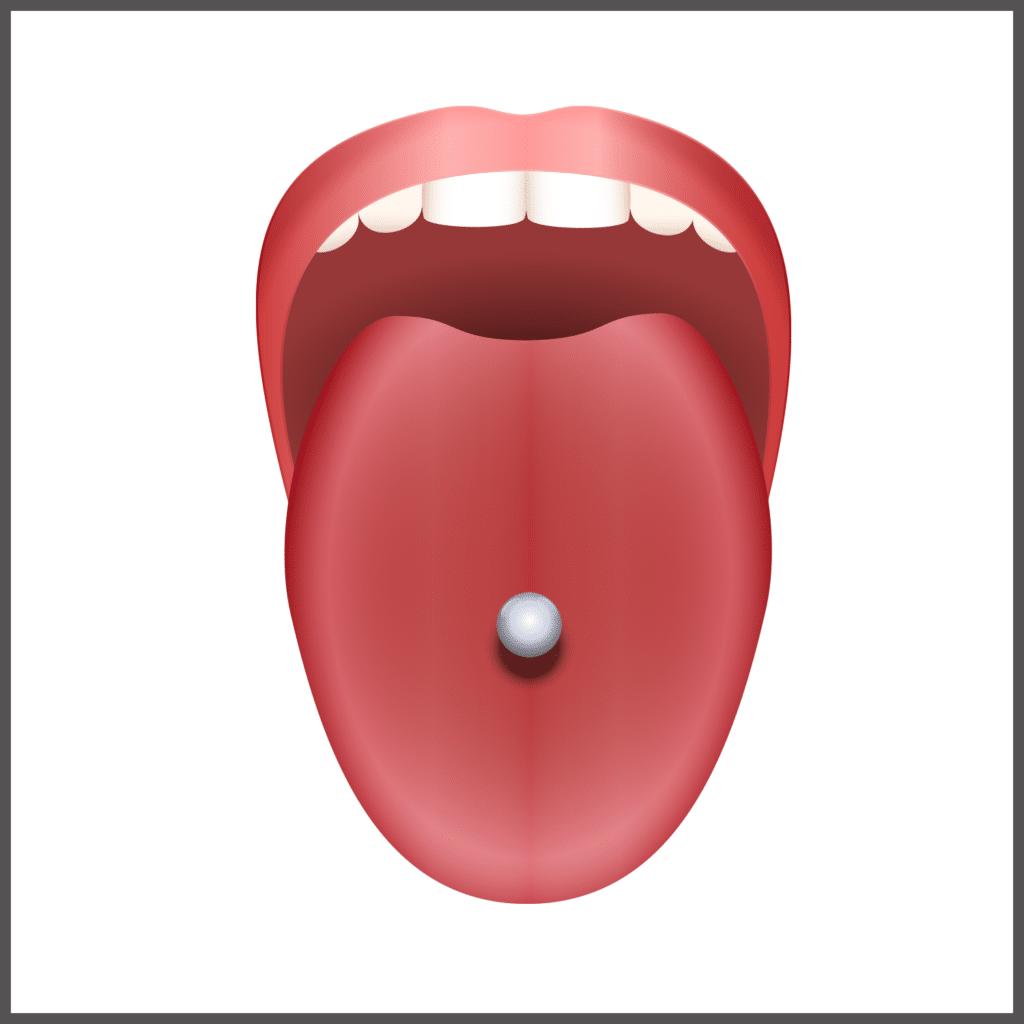 Zungenpiercing einfach